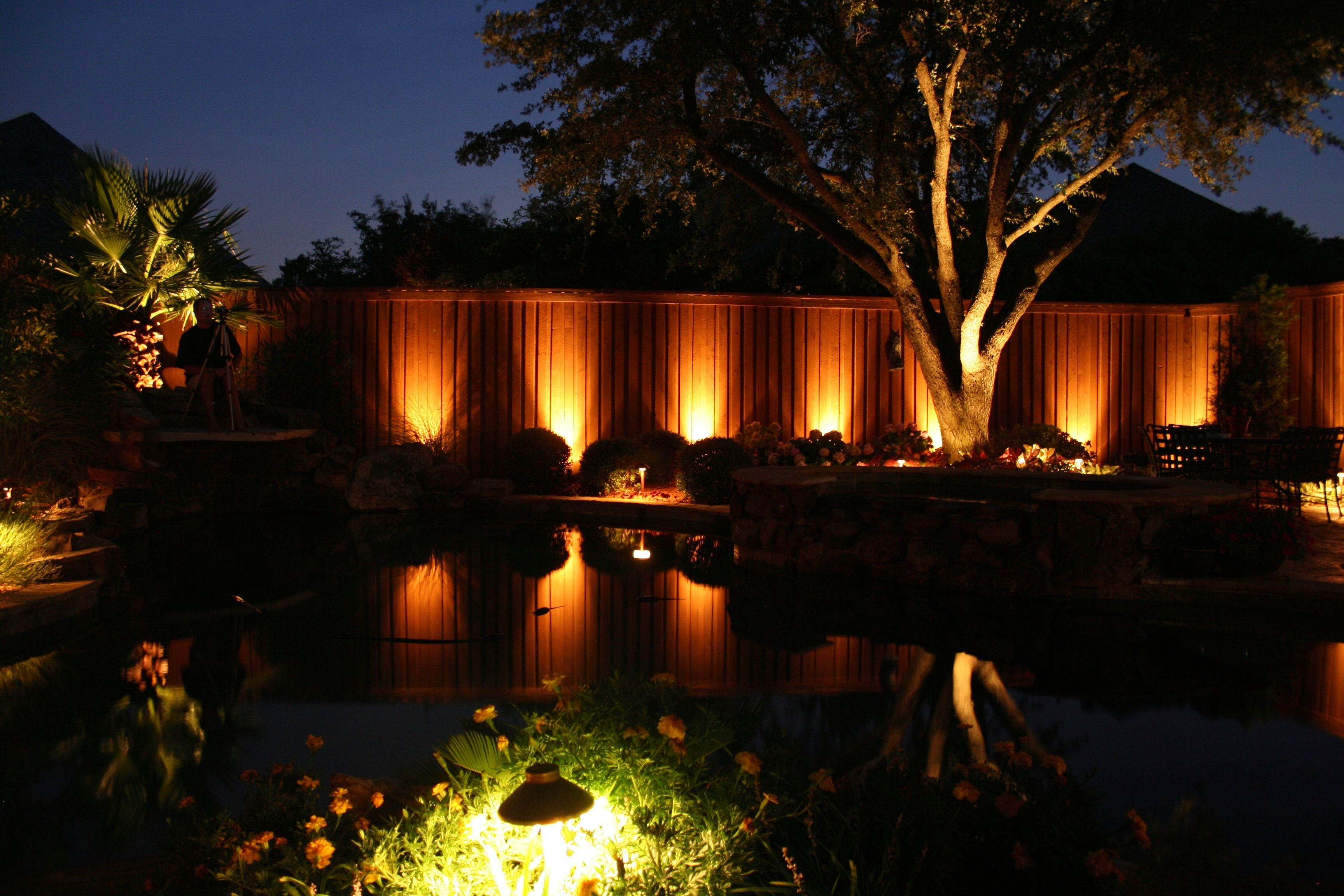 Outdoor Lighting Installed In Dallas Tx By Nite Fx Lighting Outdoor Outdoor Lighting
