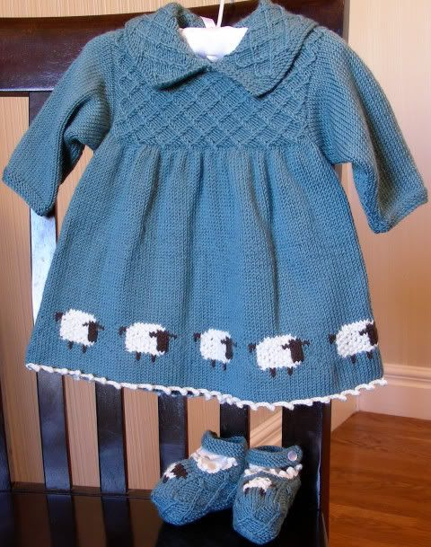 Sheep Dress by Debbie Bliss, found in the book called The ...