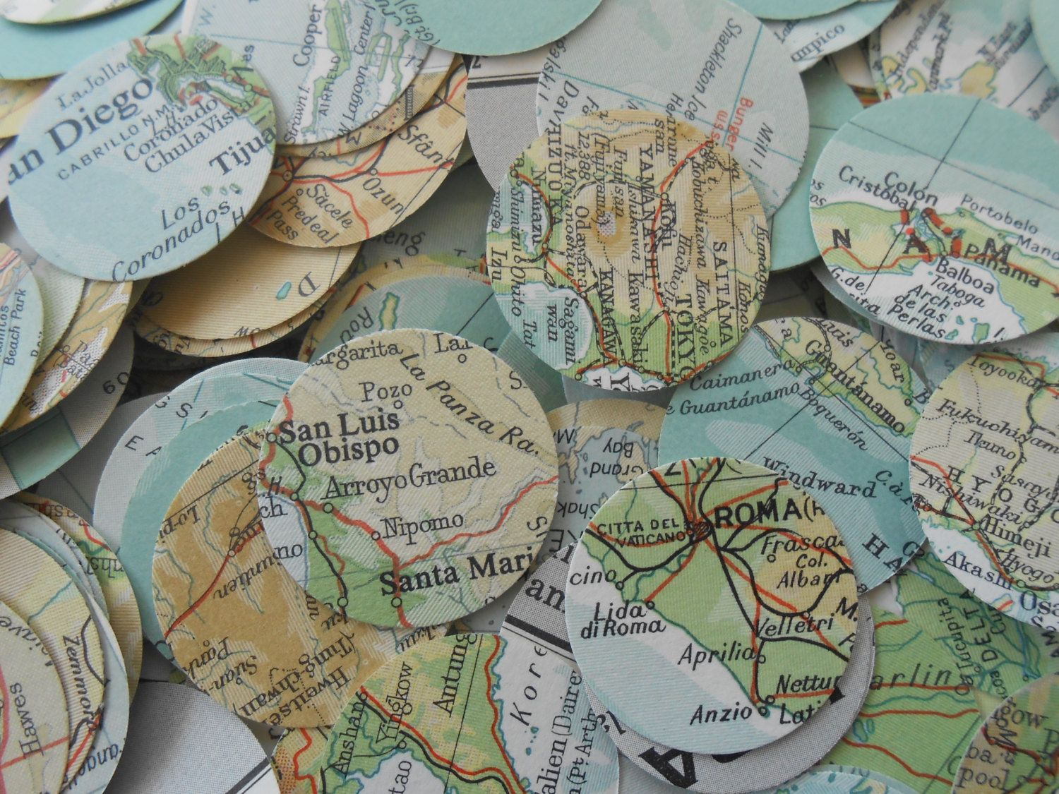 1000 vintage map confetti teal ivory ochre beige green world 1000 vintage map confetti teal ivory ochre beige green world map or choose your map heart shaped custom orders welcome gumiabroncs Images