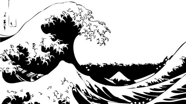 The great wave Stencils/Templates in 2019 Wave stencil, Stencil