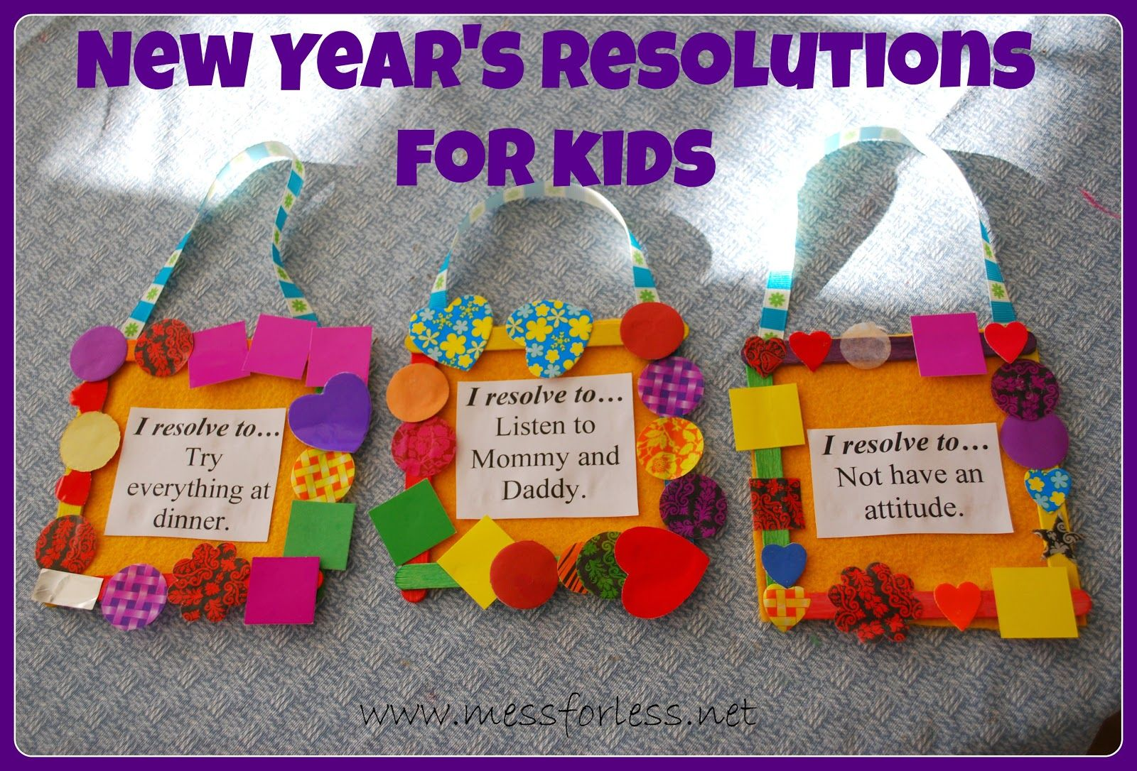 New Years Eve Craft Ideas For Kids Part - 21: New Yearu0027s Resolutions For Kids