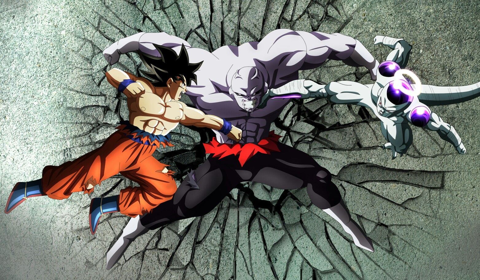 Jiren Vs Goku And Frieza Anime Dragon Ball Super Anime Dragon Ball Dragon Ball Super