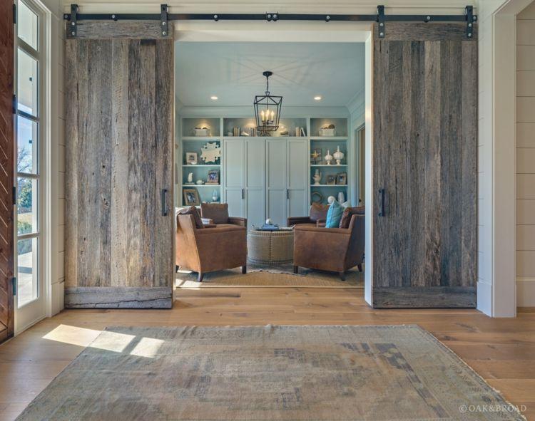 Portes coulissantes pour l 39 int rieur 48 id es inspirantes for Porte interieure en pin massif