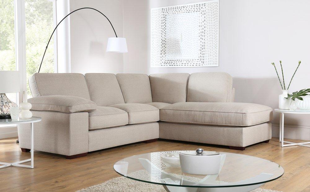 Cassie Linen Fabric L Shape Corner Sofa Rhf Corner Sofa Living Room Sofa Living Room Furniture Layout