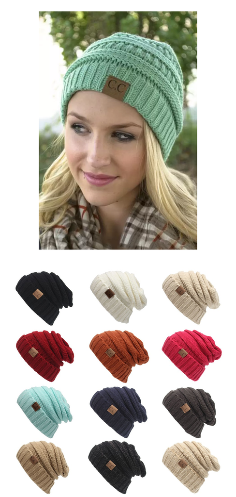Only  15.99 + Free Shipping in the US! Chunky Soft C.C Beanies. Buy yours  today at sale price from www.FamilyDeals.store 808386c33c1