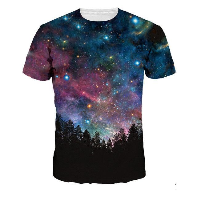 Newest Galaxy Space Printed Creative T Shirts Psychedelic