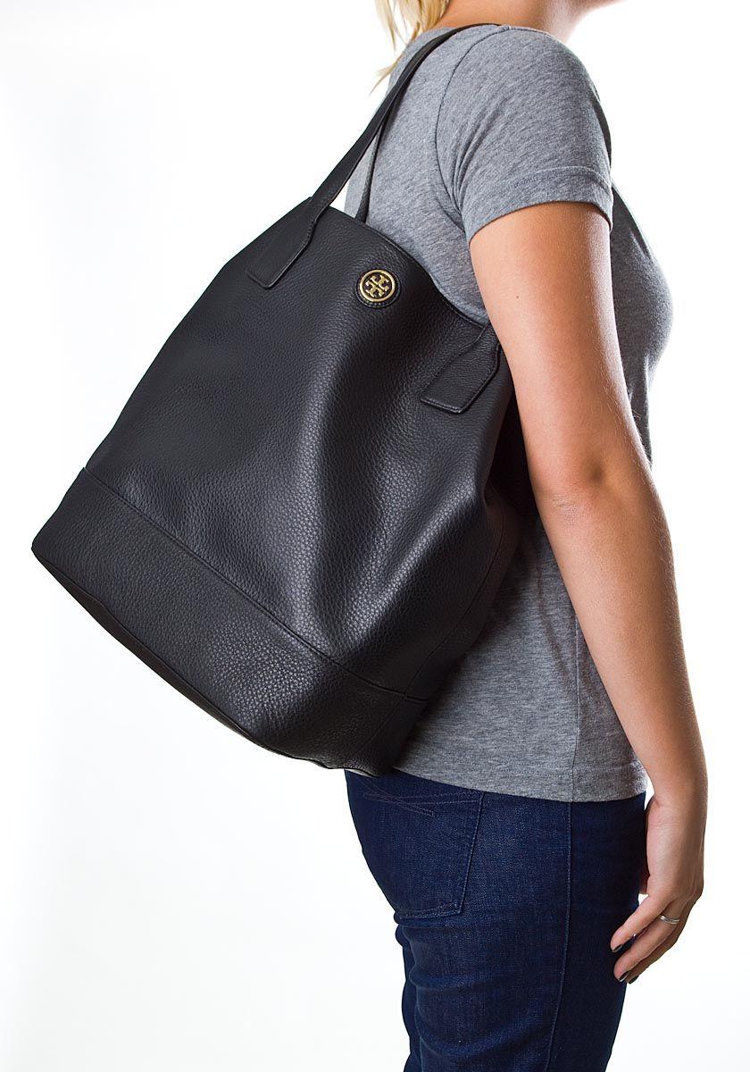 91c9d09ac0c Handbags - Tory Burch Michelle Tote Black Leather