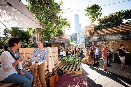 urban furniture melbourne. festival hub the urban coffee farm and brew bar brings a traditional to melbourneu0027s furniture melbourne