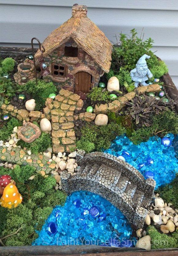 Creating A Gnome Garden Paint Yourself A Smile Fairy Garden Houses Fairy Garden Diy Miniature Fairy Gardens