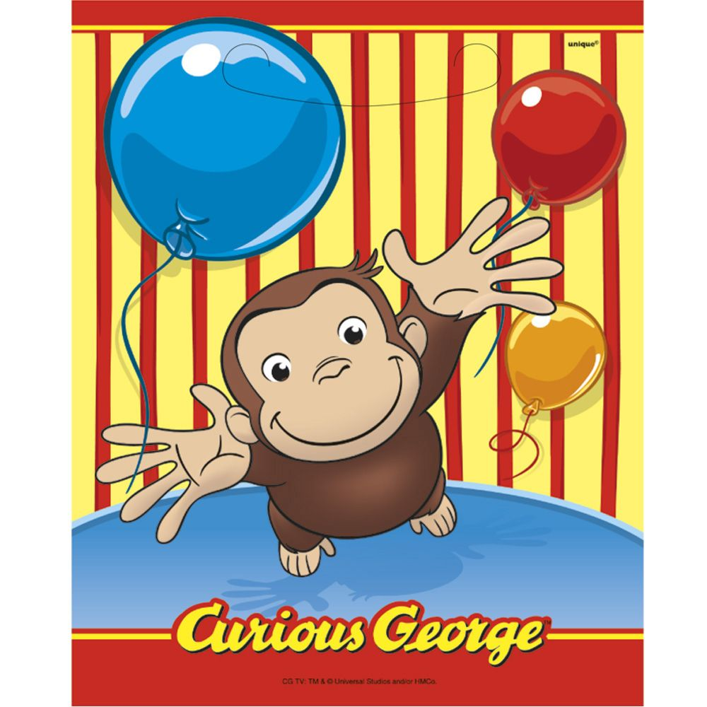 Ganesh images toys  Curious George Favor Bags Count  Tyus Toy Box  Kids Birthday