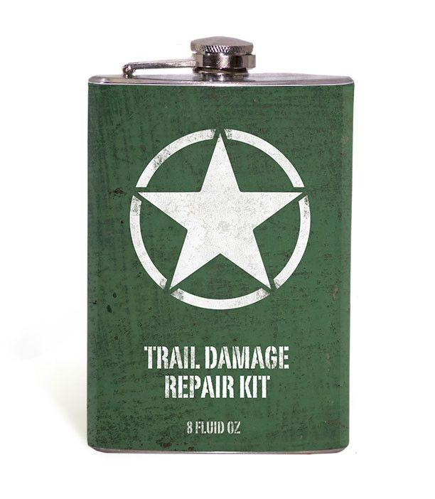 Willy Jeep Star Trail Damage Repair Kit 8oz Flask
