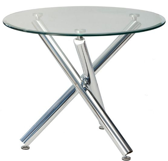 Round Glass Top Dining Table With Chrome Legs