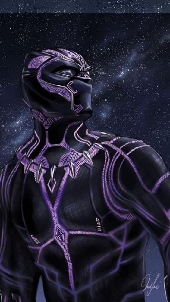 Blackpanther Galaxy Wallpaper Homescreen Iphone Lockscreen