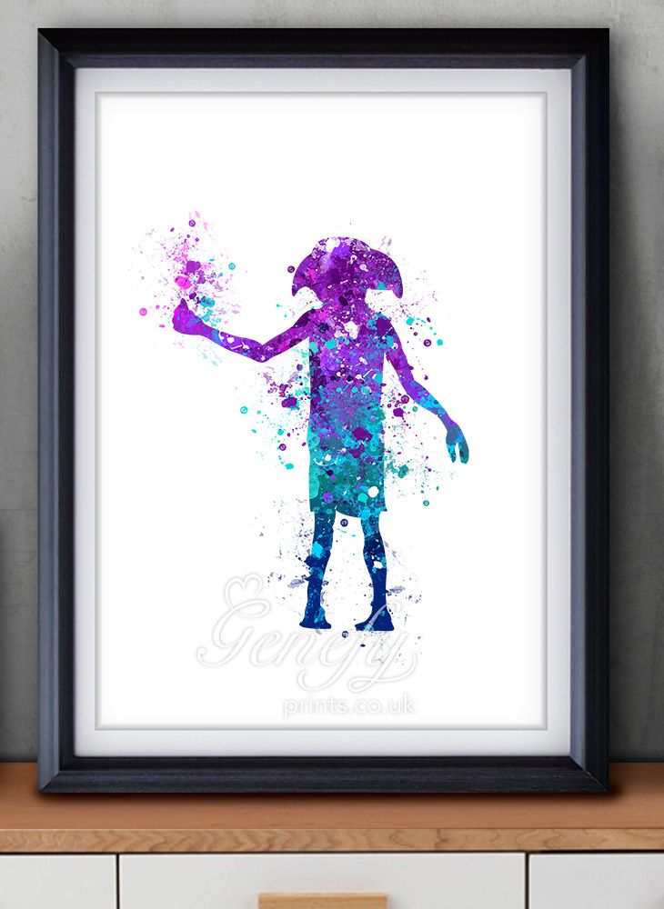 Harry Potter Dobby Elf Watercolor Painting Art Poster Print Wall ...