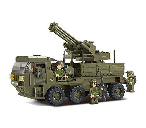 343 Pieces Sluban Merkava Tank WW2 Military Bricks Building Blocks Toy