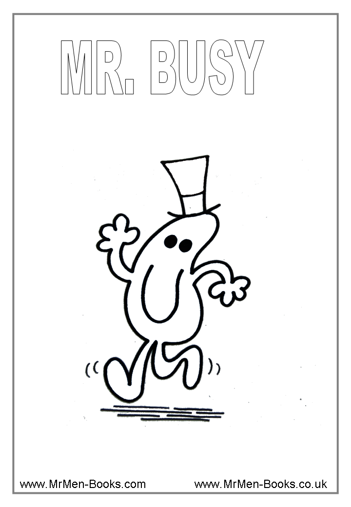 mr men books coloring pages - photo#18