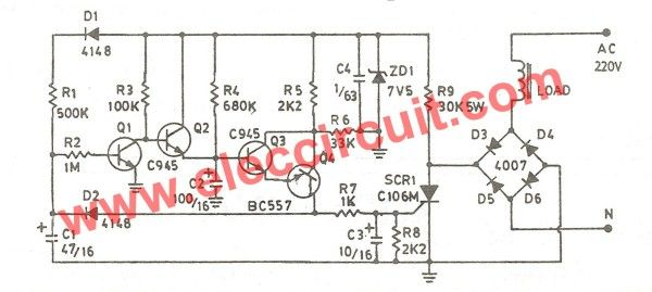 cheap air compressor time delay circuit eleccircuit com places rh pinterest co uk air compressor circuit breaker tripping air compressor schematic symbol