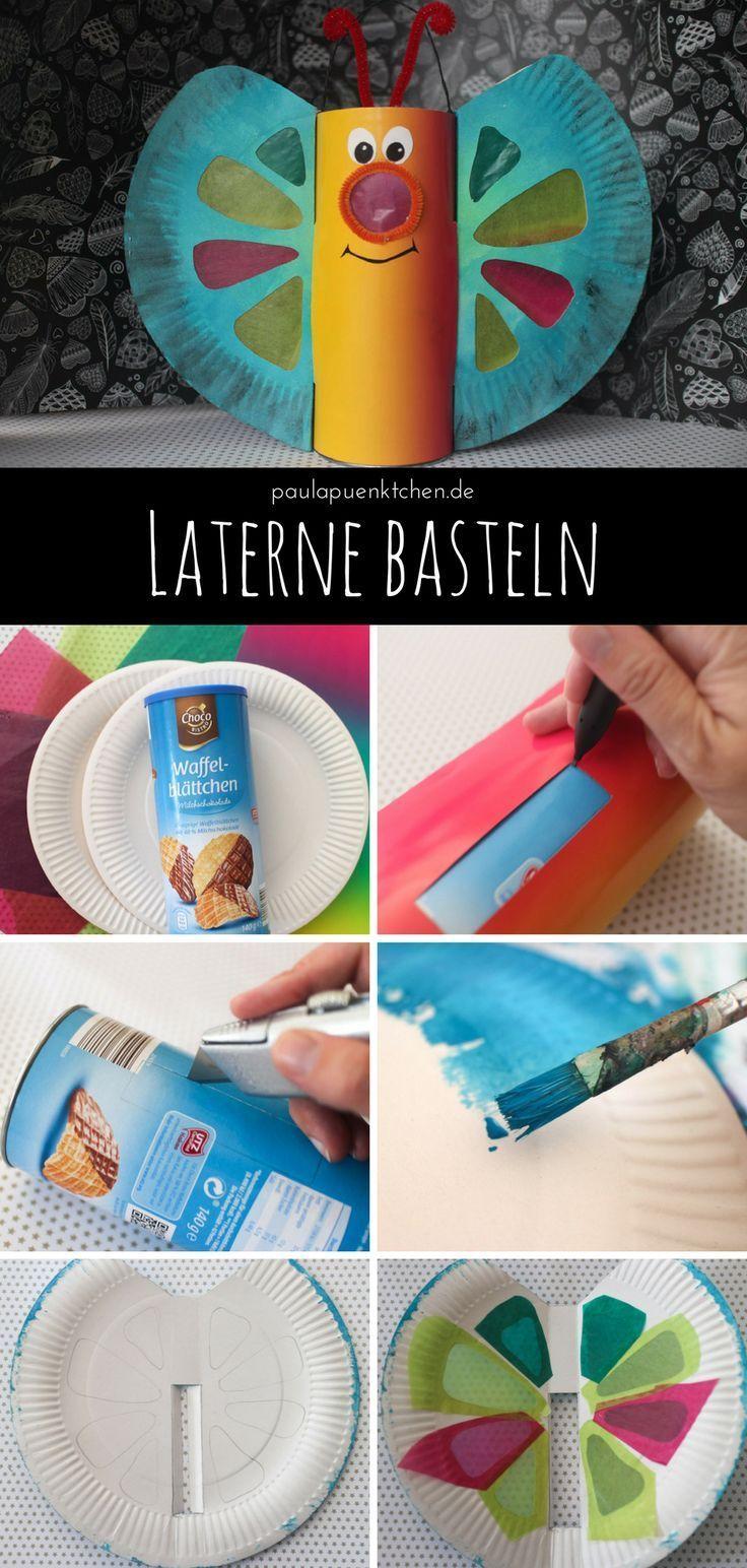 Laterne basteln: Anleitung für einen Schmetterling - Salzteig Rezepte