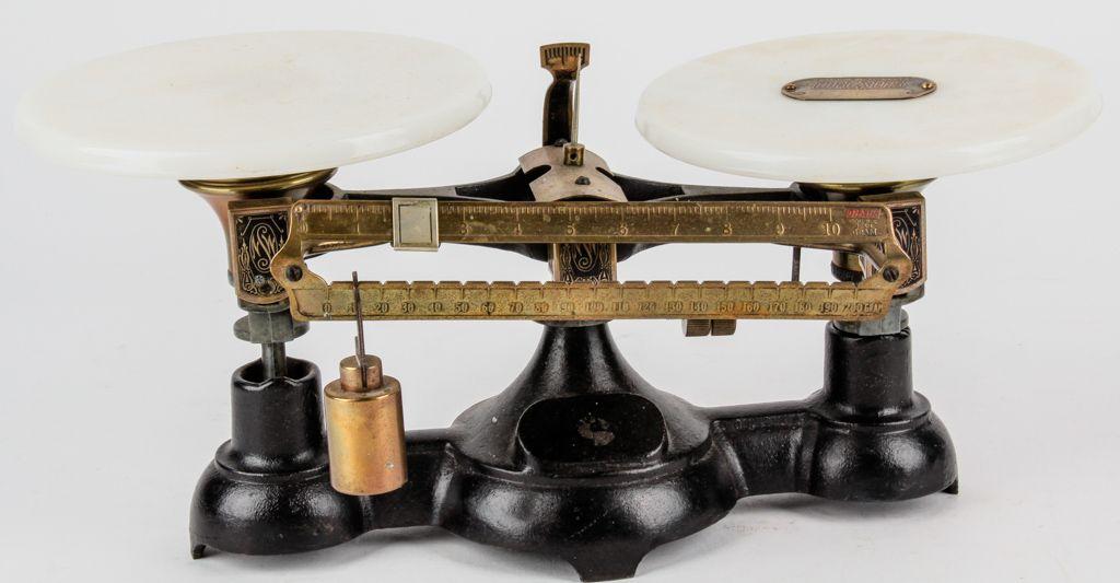 Antique Ohaus Double Beam Balance Scale Beams Antiques Auction
