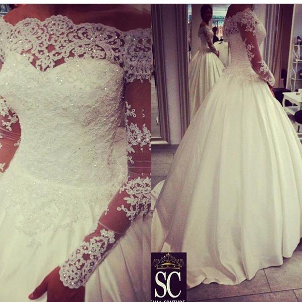 Vestido de noiva plus size off the shoulder vintage wedding dresses