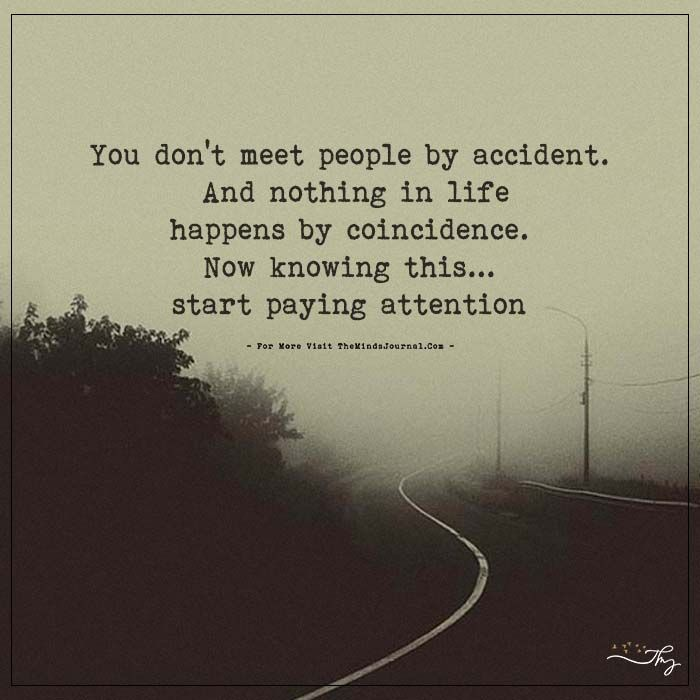 You Dont Meet People By Accident   Quotes about meeting