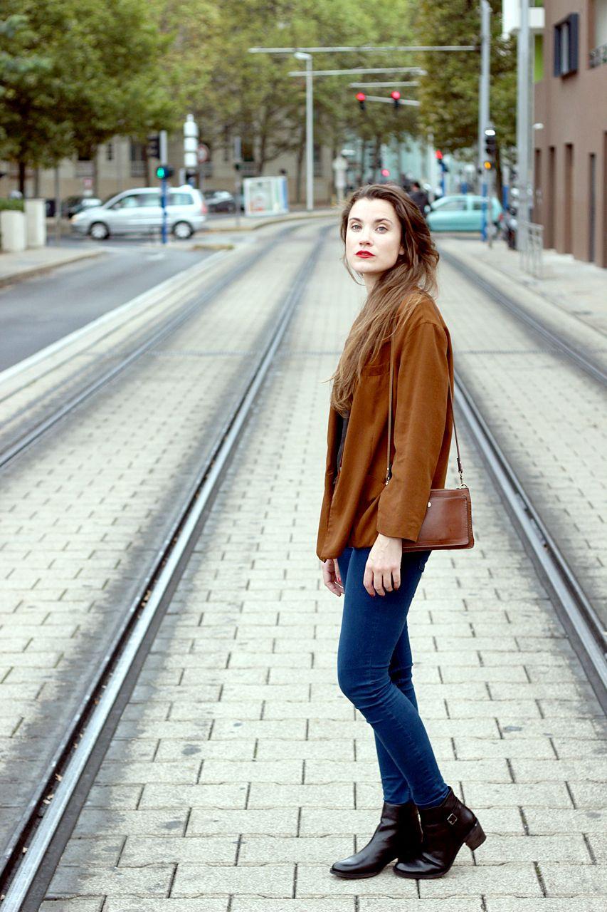 Love the camel blazer !! sur le blog de Kutch & Couture