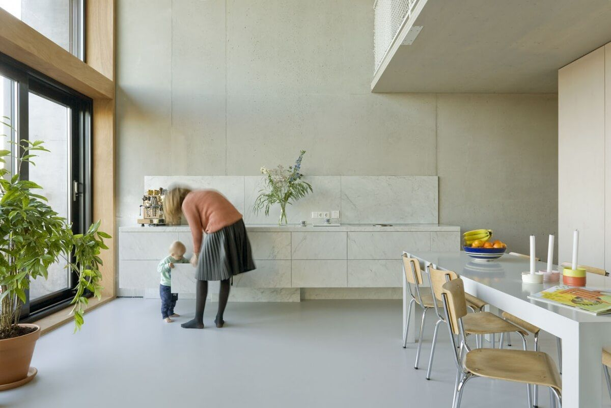 Superlofts houthaven kavel amsterdam kitchen living in
