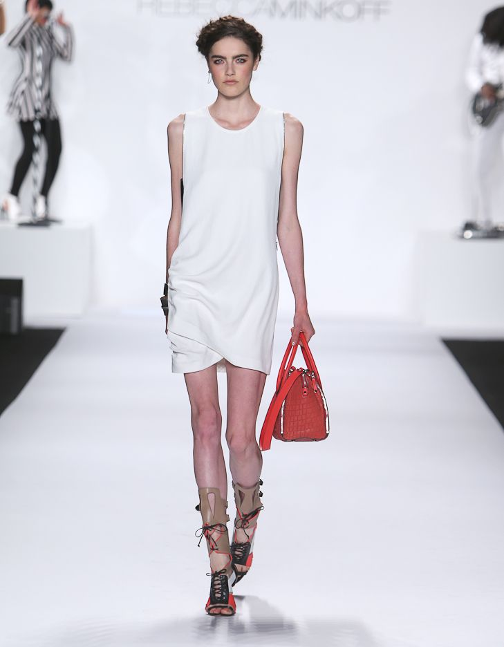 Rebecca Minkoff Look 17: Tokyo Passion Avenida Dress in Chalk
