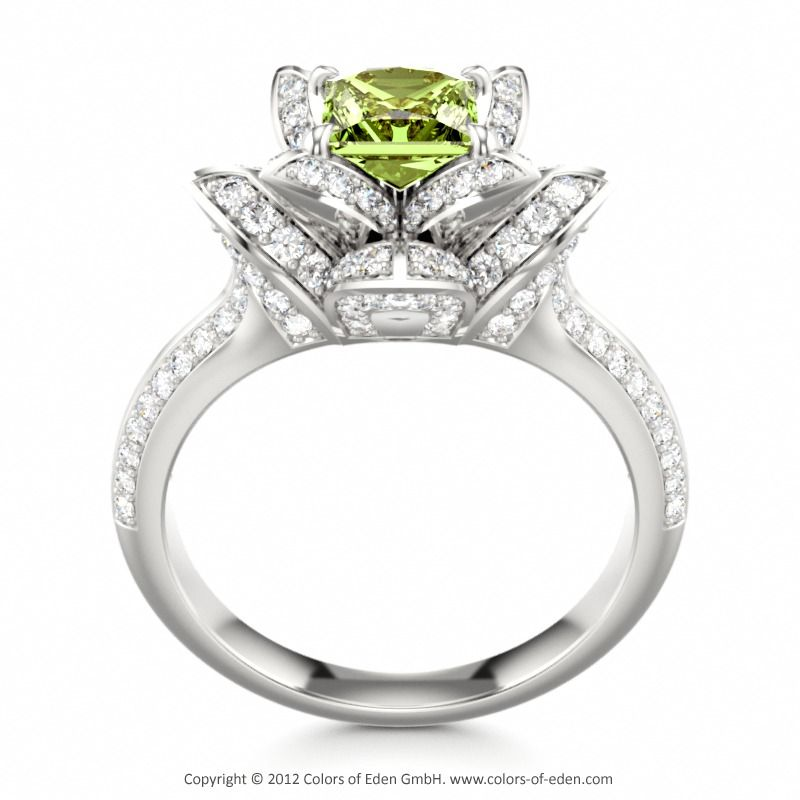 peridot engagement ring lotus blossom royal princess. Black Bedroom Furniture Sets. Home Design Ideas