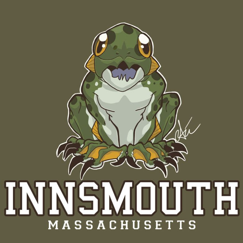 Innsmouth logo.  I would totally wear this shirt.