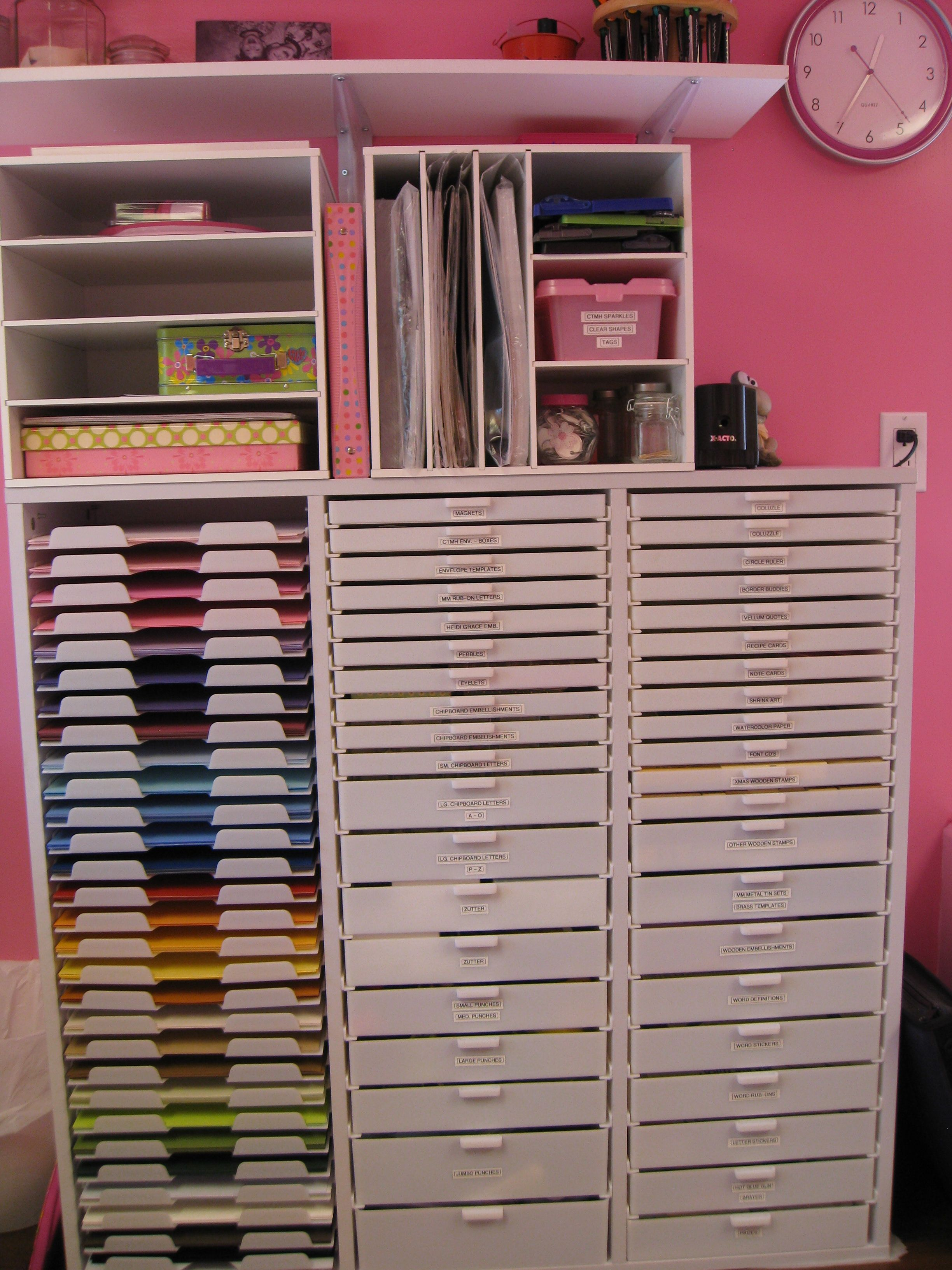 How to store scrapbook paper - Scrapbook Paper Storage Storage Paper Punches Tools Wooden Stamps Wooden
