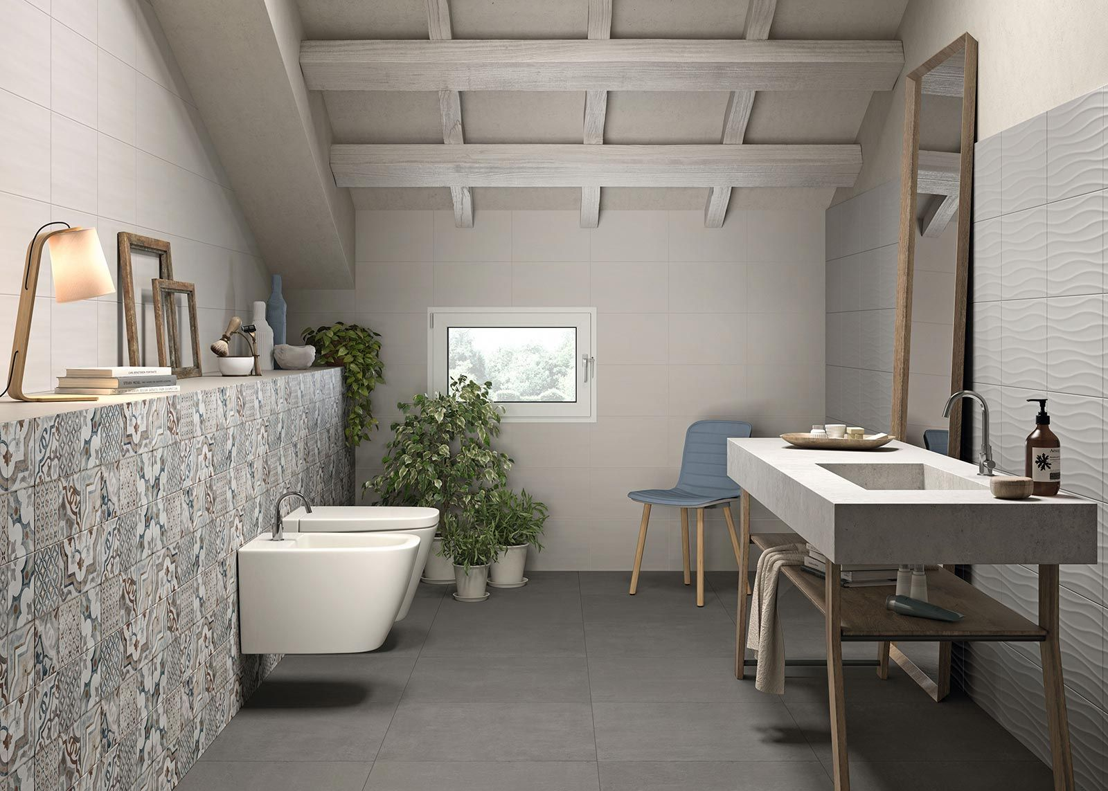 Neutral piastrelle in ceramica marazzi bathroom design