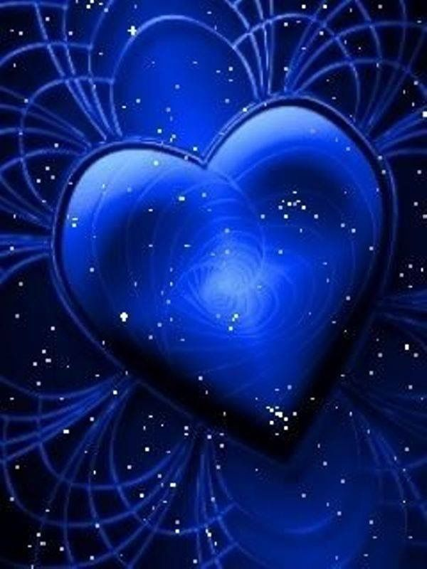 Pin By חגית בריל On Hearts Heart Wallpaper Blue Sparkles Romantic Pictures Blue hearts live wallpaper free android