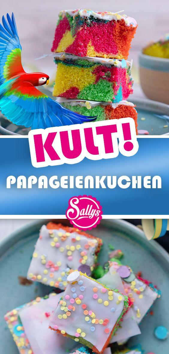 Bunter Kult Papageienkuchen vom Blech / SALLYS WELT