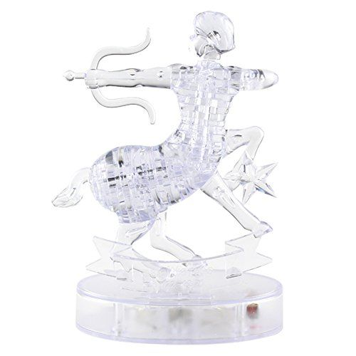 Crystal Puzzle With Flash Light Constellation Series Sagittarius 3d Crystal Birthday Gifts For Kids Crystals