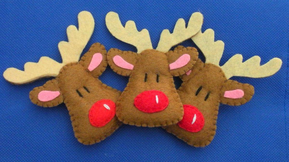 Renos de fieltro para navidad imagui christmas for Manualidades renos navidenos