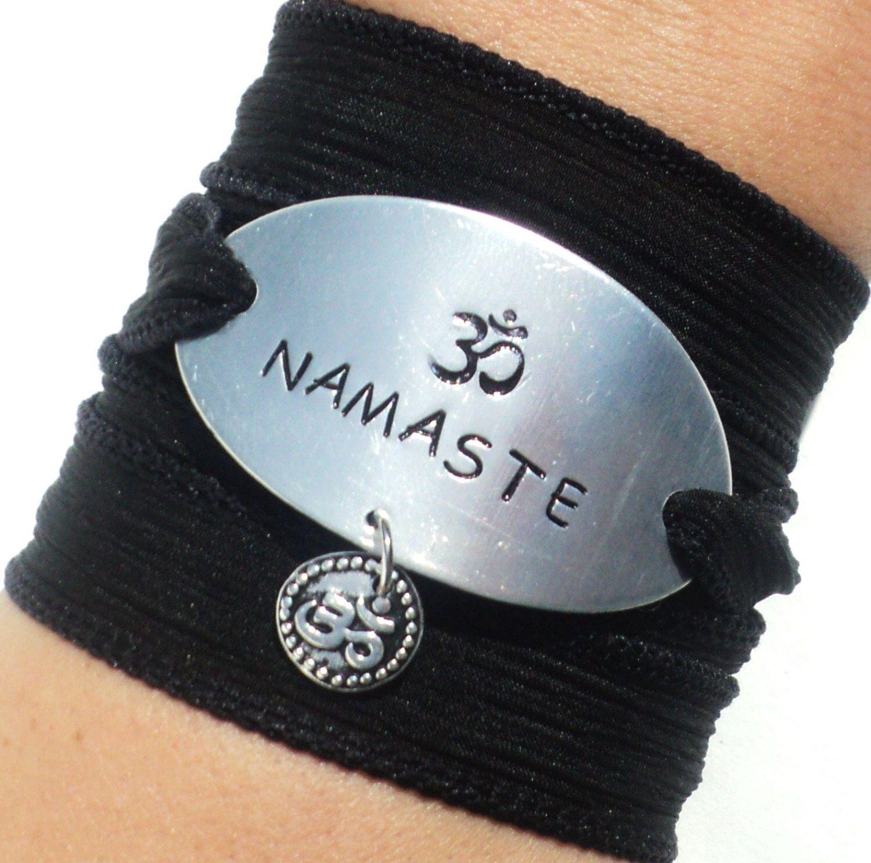 Yoga Silk Wrap Bracelet Arm Band Namaste Jewelry Christmas