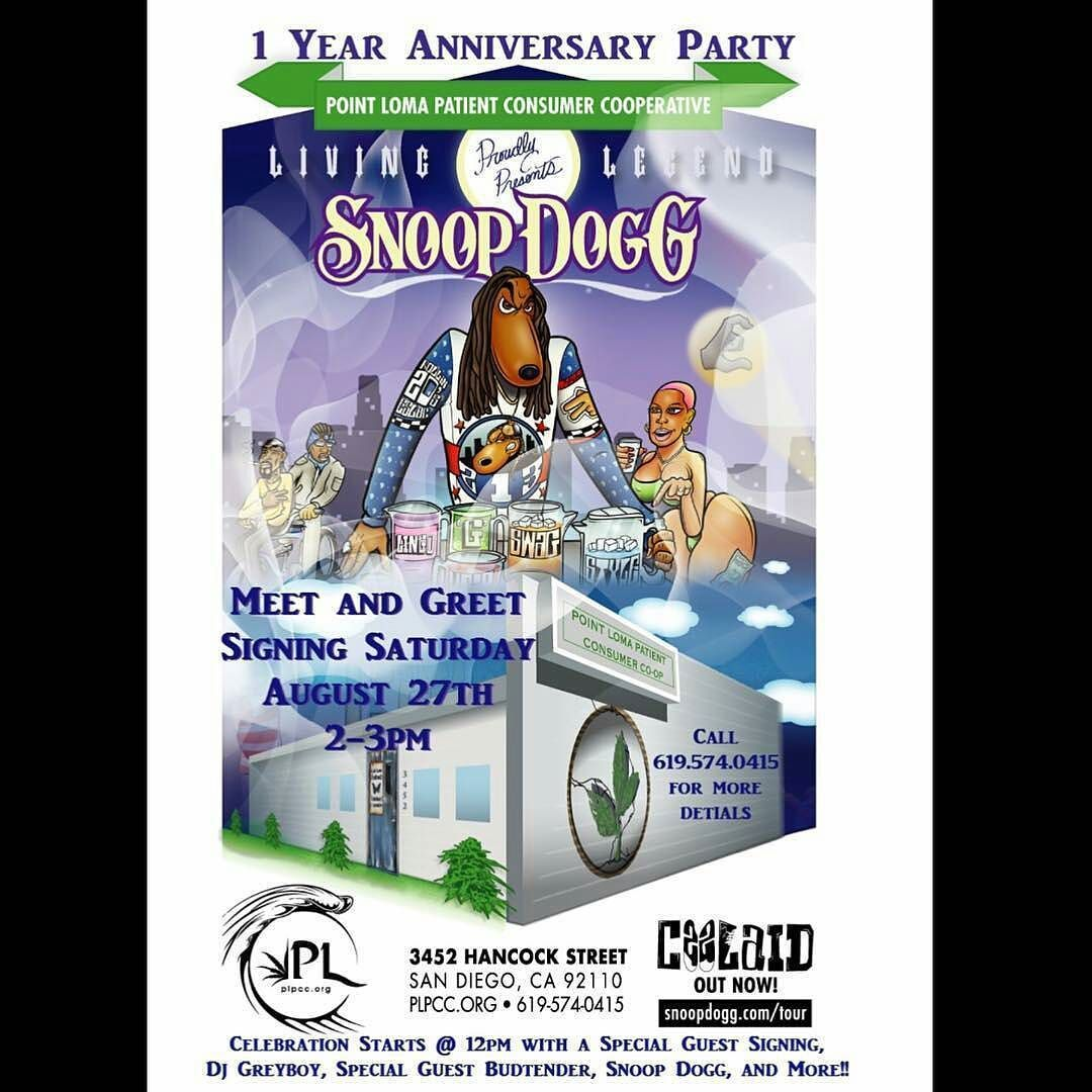 Meet Snoop Dogg On August 27th At Our Home Base In San Diego