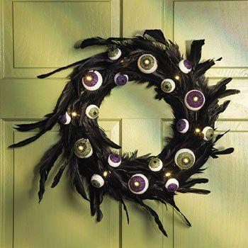 FE-OTC Halloween Wreaths and Floral Decorations Lighted Eyeball - halloween lighted decorations