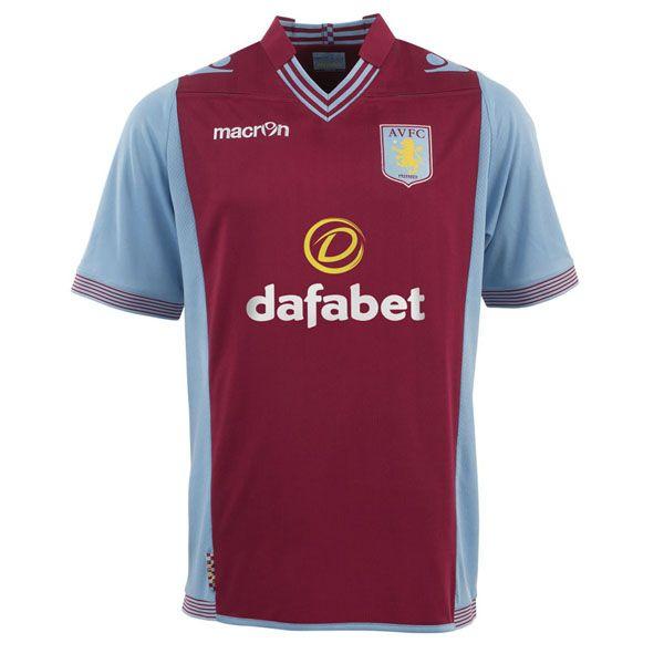 Aston Villa Football Home Pre Match Top Mens Claret