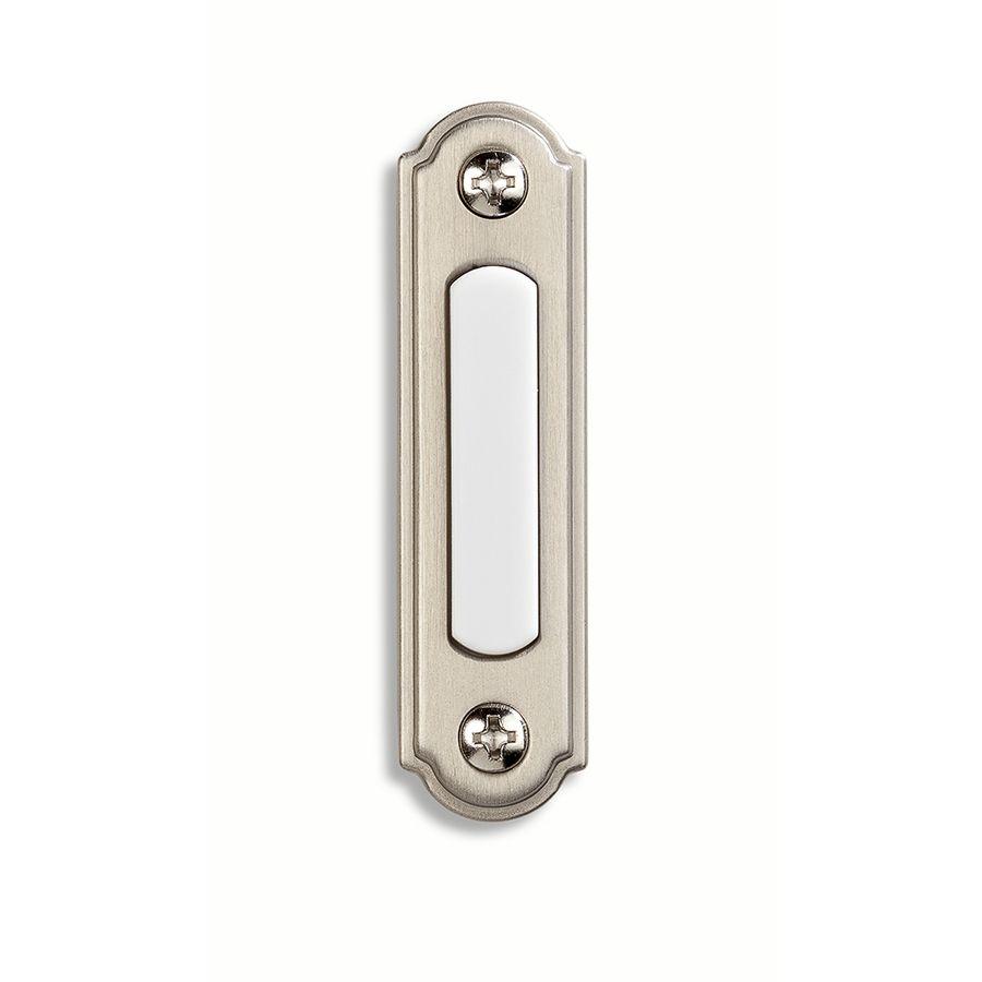 11, wired. Utilitech Nickel Doorbell Button. Chantilly
