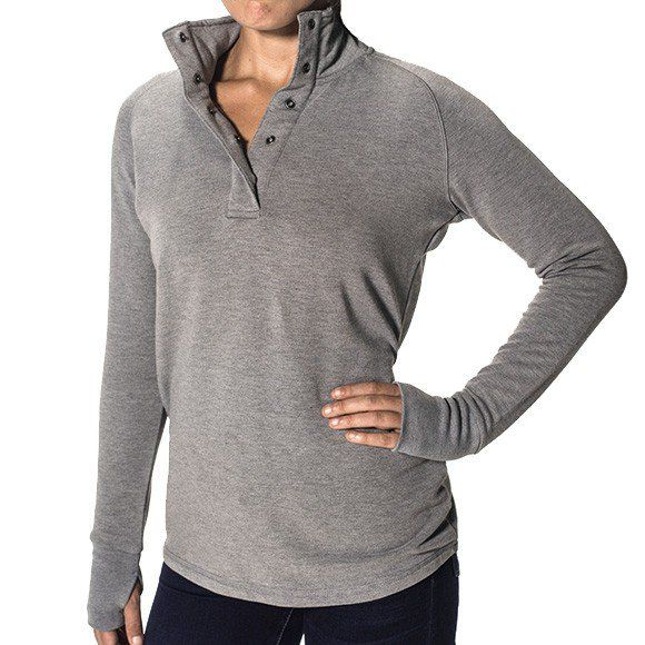 Women's Bamboo Thermal Fleece Pullover - Tops - Women's | Wants ...