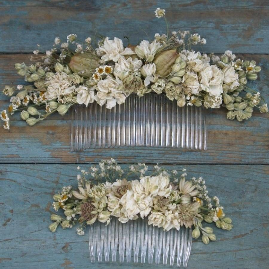 Fake flowers for crafts - Wild Meadow Dried Flower Hair Comb By The Artisan Dried Flower Company Notonthehighstreet Com