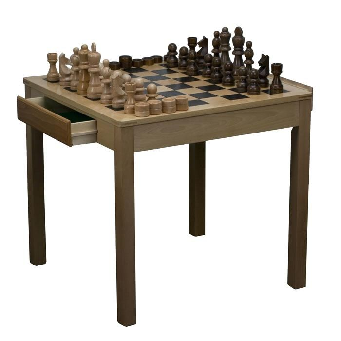 Garden Chess Table Full Size Indoor Outdoor With Giant Pieces