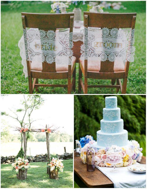 Vintage Bohemian Hochzeit Tischdeko Tortendeko Mit Spitze Hochzeit