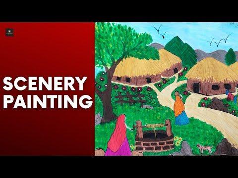 #scenery #painting #ArtLove Painting of Scenery | Scenery Drawing | Scenery Art | Painting of Nature - YouTube