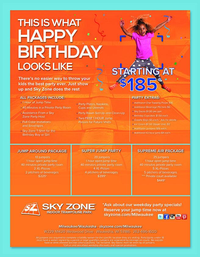 Sky Zone Milwaukee Birthday Parties Sky zone birthday