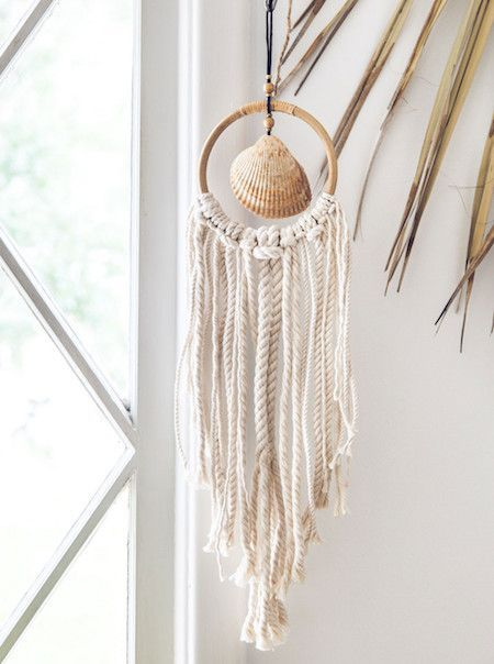 Beach Shack Wall Hanging Bohemian Diesel Marketplace In 2020 Shell Crafts Diy Seashell Crafts Shell Crafts