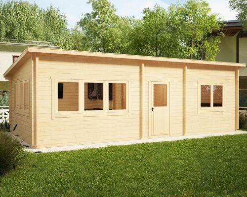 Ein Schlafzimmer Blockhaus Holiday J 40m2 / 4,5 x 9 m