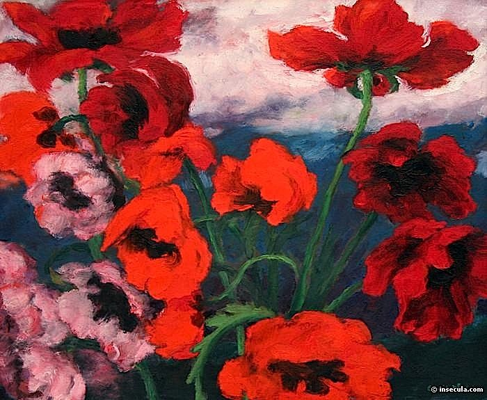 Large Poppies 1942 By Emil Nolde Emil Nolde Mohnblumen Kunst Mohn Rot